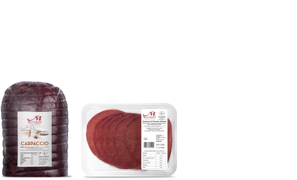 Carpaccio di Bresaola - Packaging